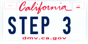 DMV Auto Registration License Plate